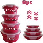 Natural's House 8pcs Collapsible Containers Round Silicone Food Storage $18.99 (REG $49.99)