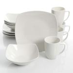 Gibson Home Zen Buffetware 12 Piece Dinnerware Set, White $20.00 (REG $39.99)