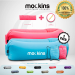 Mockins 2 Pack Inflatable Lounger Air Sofa Perfect for Beach Chair $34.99 (REG $79.99)