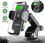PLESON Wireless Car Charger Mount, Auto-Clamp Qi Fast Charging $26.34 (REG $40.99)