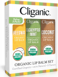 Cliganic USDA Organic Lip Balm Set – 3 Assorted Flavors $3.99 (REG $7.99)