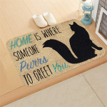 partm Rectangle Non-Slip Door Mat Bedroom Kitchen Flannel Print Floor Mat Doormats $5.49 (REG $18.30)