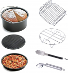 Air Fryer Accessories 7pcs for Gowise Phillips & Cozyna, fit all 3.7QT 5.3QT $15.27 (REG $35.99)