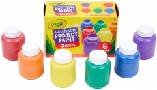Crayola Washable Kids Paint, 6 Count, Kids At Home Activities, Painting Supplies, Gift $6.34 (REG $14.00)