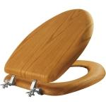 MAYFAIR Natural Oak Veneer Toilet Seat with Chrome Hinges $25.99 (REG $58.61)