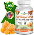 Organic Ashwagandha Capsules with Black Pepper – 1950mg Maximum Strength $14.95 (REG $39.99)
