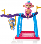 WowWee Playset Bar/Swing Playground with 2 Fingerlings Baby Monkey Toys $14.55 (REG $39.99)