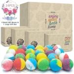 24 Organic & Natural Bath Bombs, Handmade Bubble Bath Bomb Gift Set $24.69 (REG $69.99)
