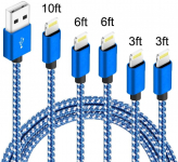 LIGHTNING DEAL!!! 5Pack(3ft 3ft 6ft 6ft 10ft) iPhone Lightning Cable $8.33 (REG $19.99)