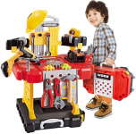 LIGHTNING DEAL!!! Toy Tool, 100 Pieces Kids Construction Toy Workbench for Toddlers Kids$25.49 (REG $49.99)