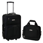Rockland Luggage 2 Piece Set, Black, Medium $29.69 (REG $79.99)