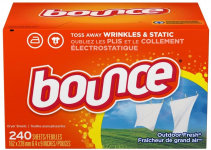 Bounce Fabric Softener and Dryer Sheets, Outdoor Fresh, 240 Count $7.33 (REG $12.56)