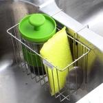 Sink Caddy Brush Soap Dishwashing Liquid Drainer Rack – Stainless Steel $10.99 (REG $29.99)