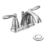 Moen Brantford Two-Handle Low-Arc Centerset Bathroom Faucet $91.98 (REG $153.30)