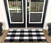 Levinis Buffalo Check Rug – Cotton Washable Porch Rugs Door Mat $14.47 (REG$20.99)