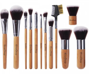 EmaxDesign 12 Pieces Makeup Brush Set Professional Bamboo Handle $10.99 (REG $49.99)