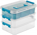 Sterilite 14138606 Layer Stack & Carry Box, 10-5/8-Inch $7.99 (REG $15.95)