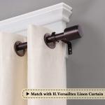 Standard Decorative Window Curtain Rod with Cap Finials $24.95 (REG $65.99)