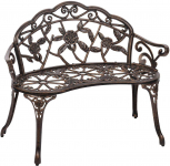 Garden, Park, Patio,Yard, Metal Bench Floral Rose Accented Bronze $89.99 (REG $169.99)