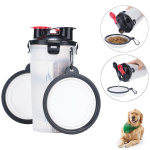 2 in 1 Portable Dog Travel Water Dispenser with 2 Collapsible Silicone Bowls $12.99 (REG $27.99)
