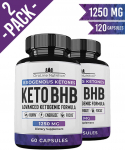 Keto Pills – (2 Pack | 120 Capsules) Advanced Keto Burn Diet Pills $18.99 (REG $38.99)