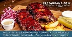 BOGO! (2) $100 Restaurant.com Cards for $40