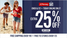 Shop JC Penney's One Day Sale! Get An Extra 25% Off!