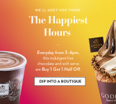Buy One, Get One 50% Off Hot Chocolate & Soft Serve Ice Cream