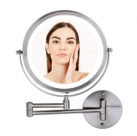 8.5″ Ovente Wall Mounted Vanity Makeup Mirror + LED Light