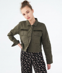 Aeropostale Solid Cropped Twill Jacket (2 Colors)