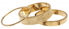 14K Gold Vermeil Textured Stack Rings Set $32.97 (REG $74.00)