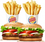 Only $3.99 for 2 Whopper Jr. Sandwiches + 2 Small French Fries
