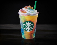 NEW! Tie-Dye Frappuccino Blended Beverage Crème