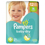 Pampers Baby Dry Diapers Size 6 $6.99 (REG $12.99)