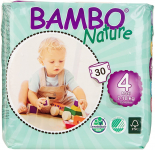 Bambo Nature Eco Friendly Baby Diapers Classic for Sensitive Skin, Size 4, $70.02 (REG $91.50)