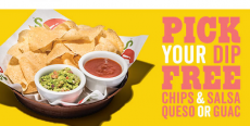 Chili's: FREE Chips & Queso or Guac w/ $5 Purchase