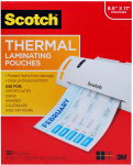 Scotch Thermal Laminating Pouches, 100-Pack, 8.9 x 11.4 inches, $14.57 (REG $24.68)