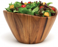 Lipper International 1174 Acacia Wave Serving Bowl for Fruits or Salads, Large, $24.99 (REG $66.07)