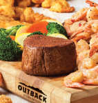 Unlimited Shrimp with Steak at Outback Steakhouse