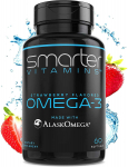 SmarterVitamins Omega 3 Fish Oil, Strawberry Flavor, Burpless, Tasteless $19.99 (REG $40.00)