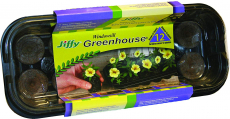 Jiffy J312 12Pel Wndwsll Greenhouse, Mini, Black with clear dome $3.19 (REG $9.99)
