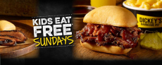Dickey's Barbecue Pit / Kids Eat Free Sunday With $10 Purchase / Dine-In Only