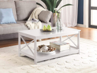 Convenience Concepts Oxford Coffee Table, White $79.62 (REG $162.75)