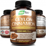 NutriFlair Ceylon Cinnamon (Made with Organic Ceylon Cinnamon) 1200mg per Serving $11.04 (REG $39.99)