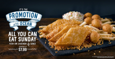 All You Can Eat Sunday Starting At $7.99 at long John Silver's