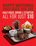Chili's Baby Back Ribs 3 for $10 Deal