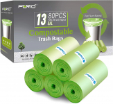 13 Gallon Tall Kitchen Garbage Bags 80 Count $11.97( 50% Off using COUPON)