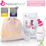 NatureBond Silicone Breastfeeding Manual Breast Pump Milk Saver Suction $13.99 (REG $29.99)