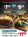 Today Only! Garden Bar & Rack of Ribs for $11.98! – Ruby Tuesday