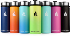 HYDRO CELL Stainless Steel Water Bottle w/Straw & Wide Mouth Lids $14.99 (REG $29.99)